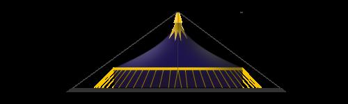 chapiteau de cirque 25M 2 mâts