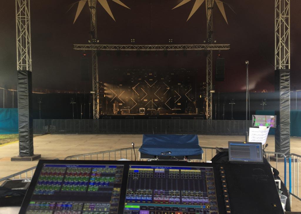 intérieur chapiteau de cirque 25m